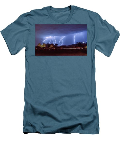 Lightning Over Laveen Men's T-Shirt (Slim Fit) by Kimo Fernandez