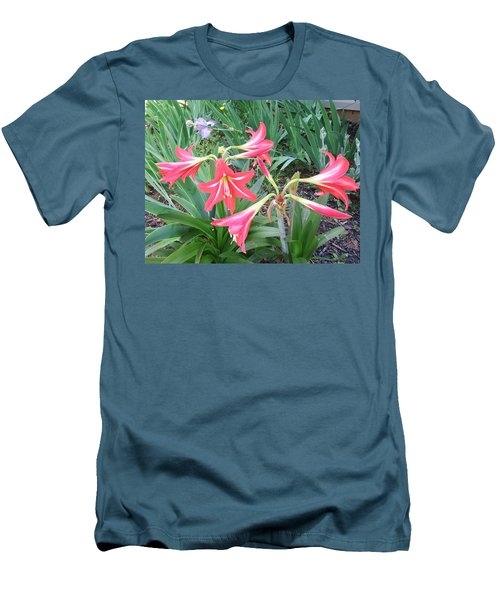 Lillies Men's T-Shirt (Slim Fit) by Cathy Harper
