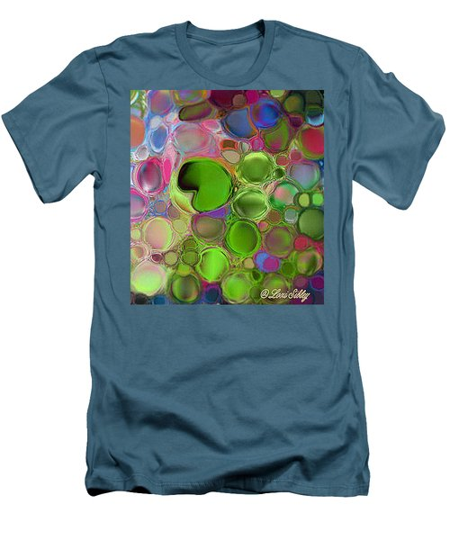 Lilly Pond Men's T-Shirt (Slim Fit) by Loxi Sibley