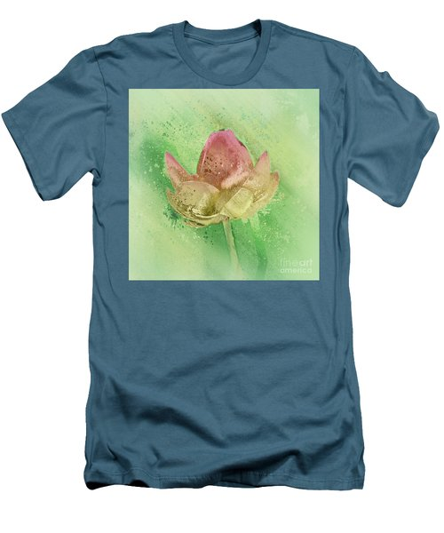 Men's T-Shirt (Slim Fit) featuring the mixed media Lily My Lovely - S112sqc88 by Variance Collections