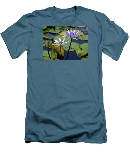 Men's T-Shirt (Slim Fit) featuring the photograph Lily Trio by Judy Vincent