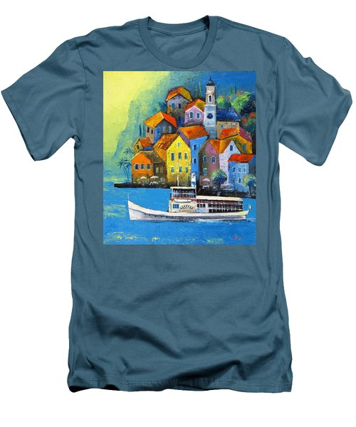 Men's T-Shirt (Slim Fit) featuring the painting Limone by Mikhail Zarovny
