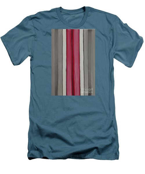 Men's T-Shirt (Slim Fit) featuring the painting Lines by Jacqueline Athmann
