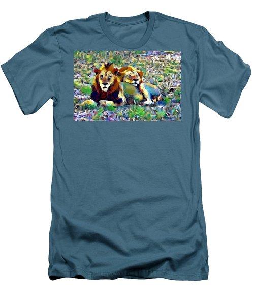Lion Buddies Men's T-Shirt (Athletic Fit)