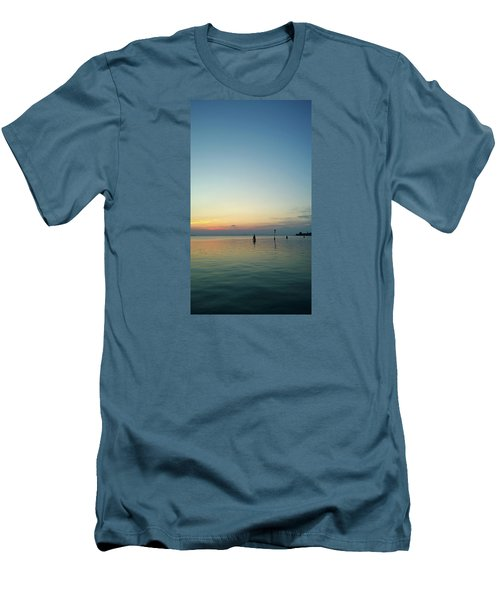 Men's T-Shirt (Athletic Fit) featuring the photograph Liquid Sunset by Anne Kotan