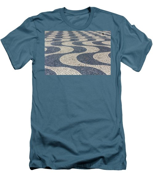 Men's T-Shirt (Slim Fit) featuring the photograph Lisbon Street by Patricia Schaefer