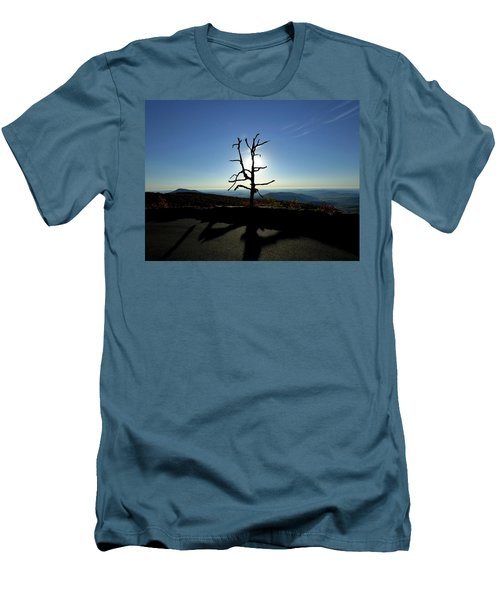Men's T-Shirt (Slim Fit) featuring the photograph Little Devil Stairs Overlook by Robert Geary