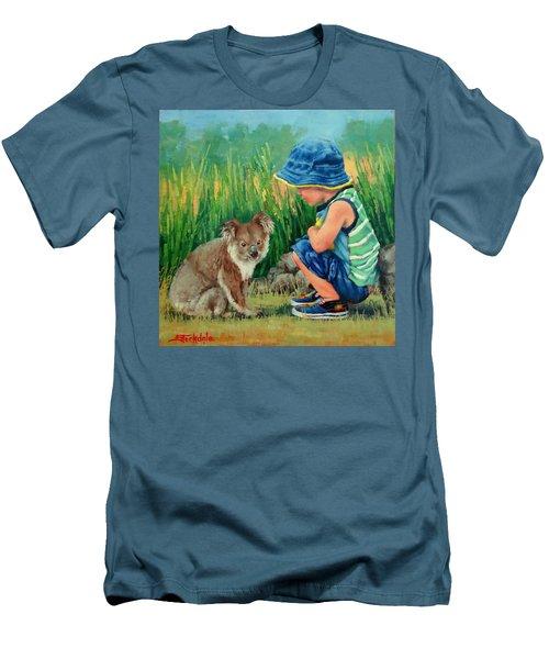 Little Friends Men's T-Shirt (Slim Fit) by Margaret Stockdale