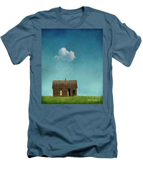 Men's T-Shirt (Slim Fit) featuring the photograph Little House Of Sorrow by Juli Scalzi