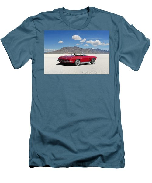 Men's T-Shirt (Slim Fit) featuring the digital art Little Red Corvette by Peter Chilelli