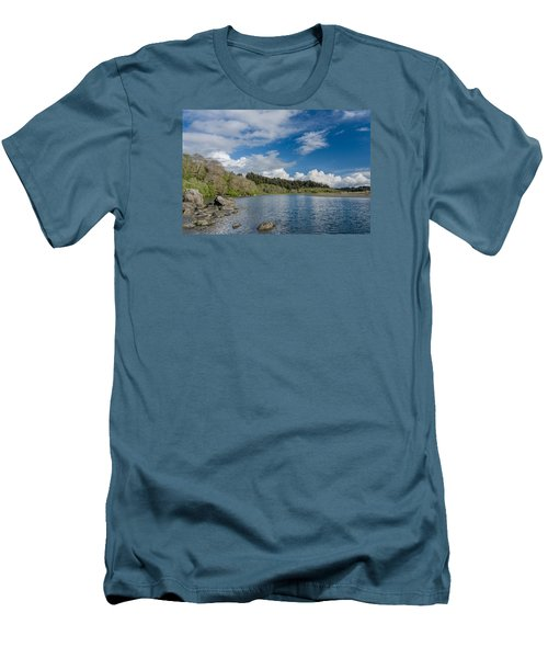Little River In Spring Men's T-Shirt (Slim Fit) by Greg Nyquist