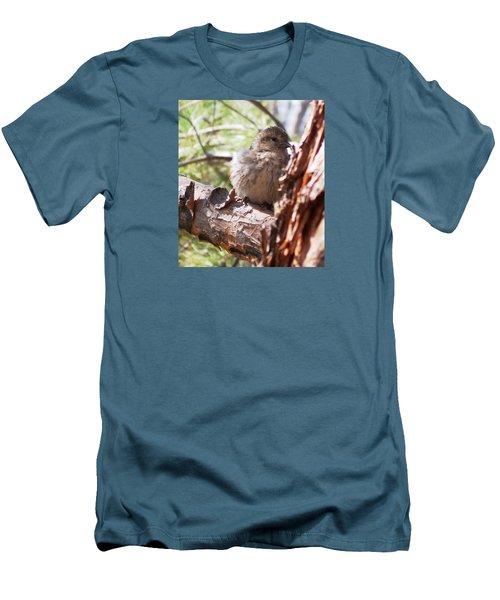 Little Shy Men's T-Shirt (Slim Fit) by Marika Evanson