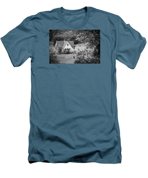 Men's T-Shirt (Slim Fit) featuring the photograph Little Victorian Styled Farm House In The Mountains by Kelly Hazel