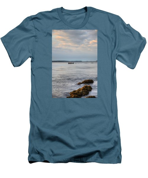 Lobsterboat Freedom II - Bass Harbor, Maine Men's T-Shirt (Athletic Fit)