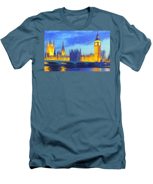 London 1 Men's T-Shirt (Slim Fit) by Caito Junqueira