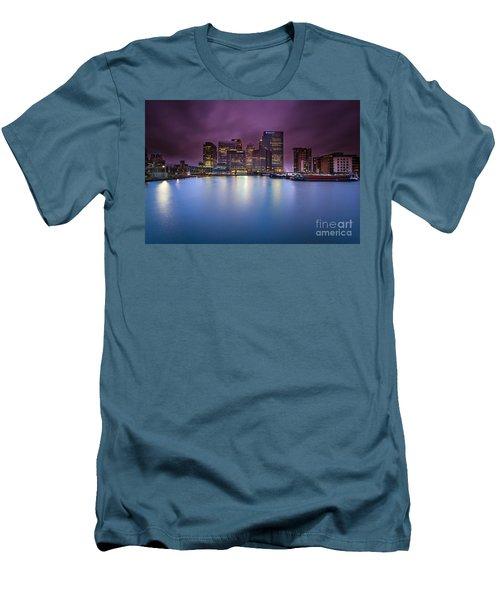 London Canary Wharf Men's T-Shirt (Slim Fit) by Mariusz Czajkowski