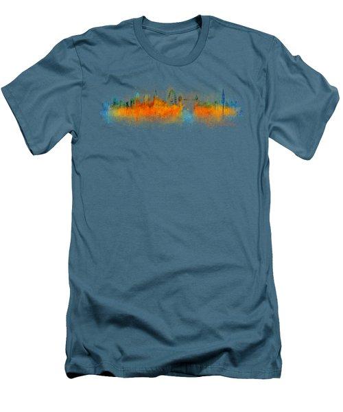 London City Skyline Hq V3 Men's T-Shirt (Slim Fit) by HQ Photo