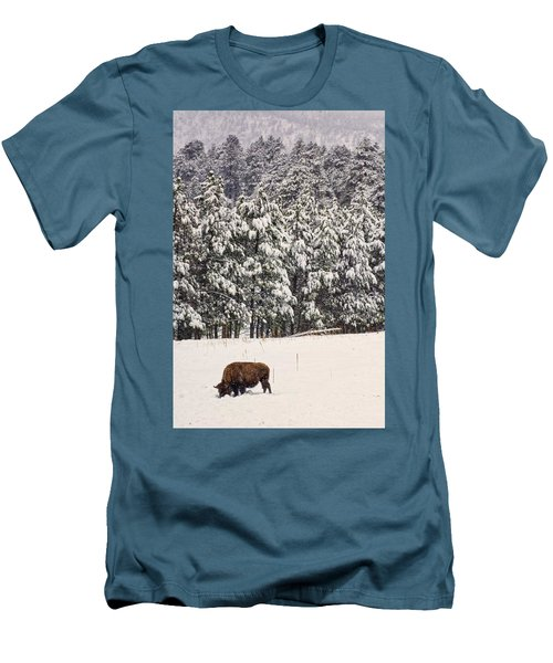 Lone Bison Men's T-Shirt (Athletic Fit)