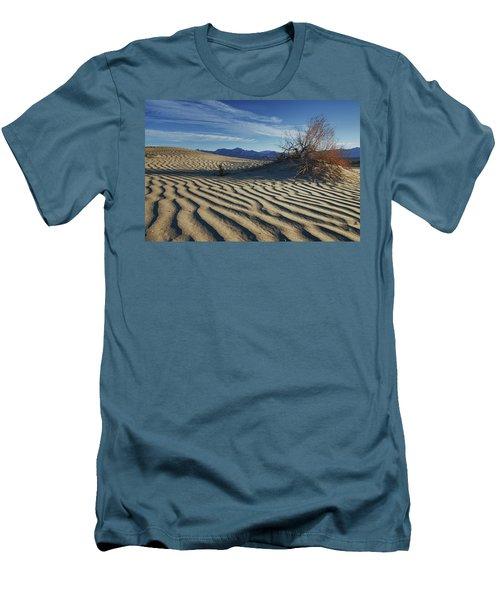 Lone Bush Death Valley Hdr Men's T-Shirt (Slim Fit) by James Hammond