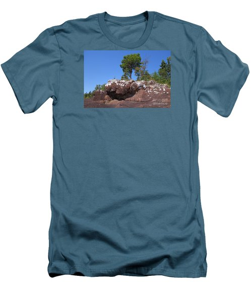 Men's T-Shirt (Slim Fit) featuring the photograph Lone Pine Sentinel  by Sandra Updyke