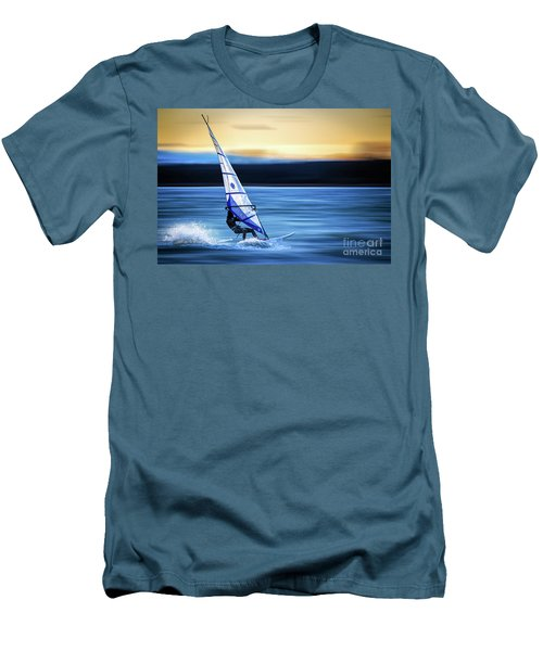 Men's T-Shirt (Slim Fit) featuring the photograph Looking Forward by Hannes Cmarits