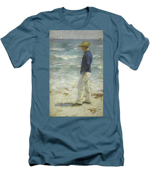 Men's T-Shirt (Slim Fit) featuring the painting Looking Out To Sea by Henry Scott Tuke