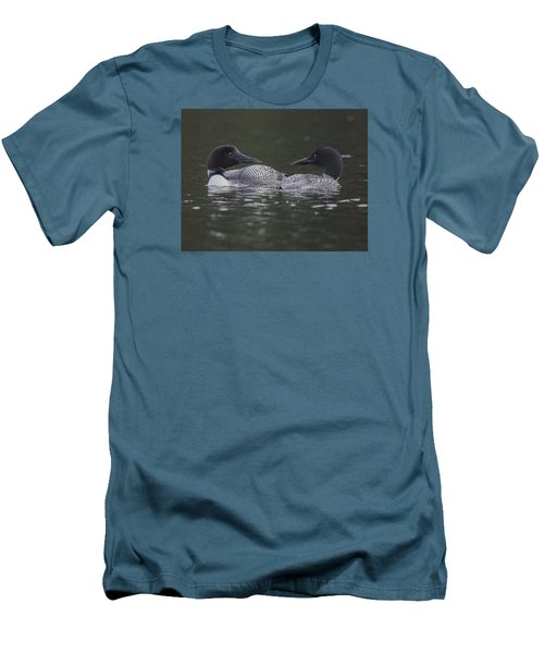 Loon Pair Men's T-Shirt (Athletic Fit)