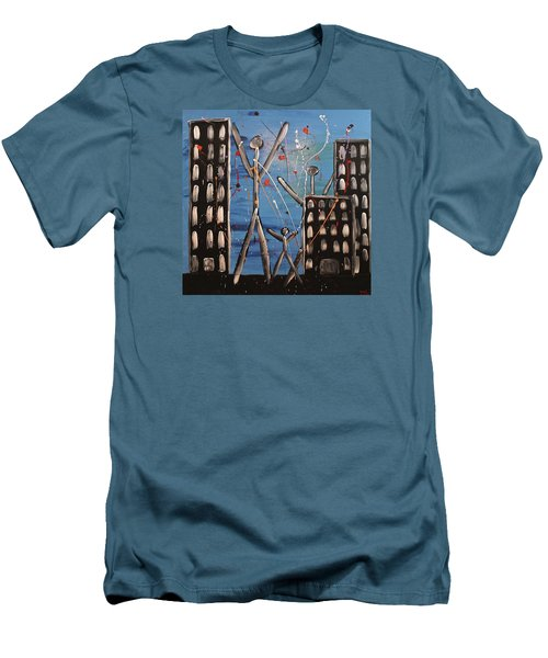 Lost Cities 13-003 Men's T-Shirt (Slim Fit) by Mario Perron