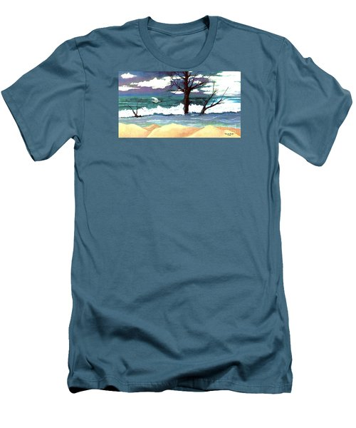 Lost Swan Men's T-Shirt (Slim Fit) by Patricia Griffin Brett