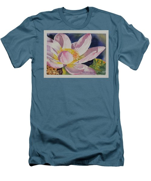 Lotus Bloom Men's T-Shirt (Slim Fit) by Mary Haley-Rocks