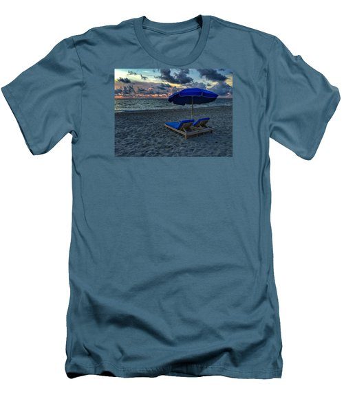Lounging By The Sea Men's T-Shirt (Slim Fit)