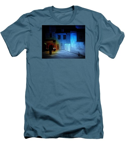 Men's T-Shirt (Slim Fit) featuring the painting Love In San Fele by Bill OConnor