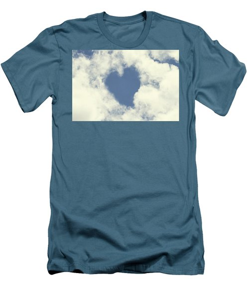 Men's T-Shirt (Slim Fit) featuring the photograph Love Is In The Air by Peggy Collins