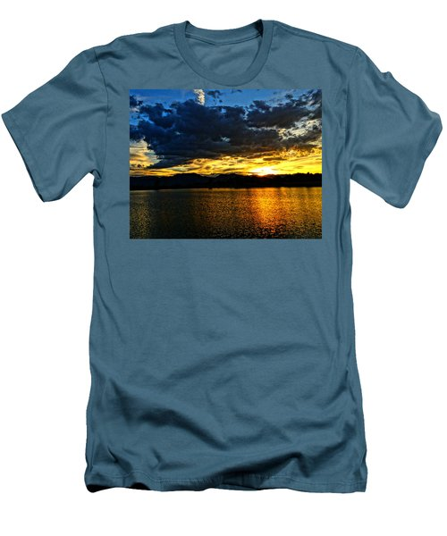 Men's T-Shirt (Slim Fit) featuring the photograph Love Lake by Eric Dee