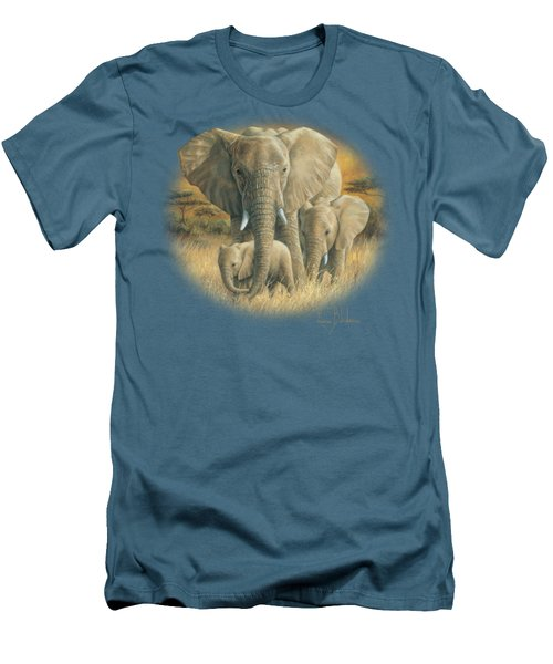 Loving Mother Men's T-Shirt (Slim Fit) by Lucie Bilodeau