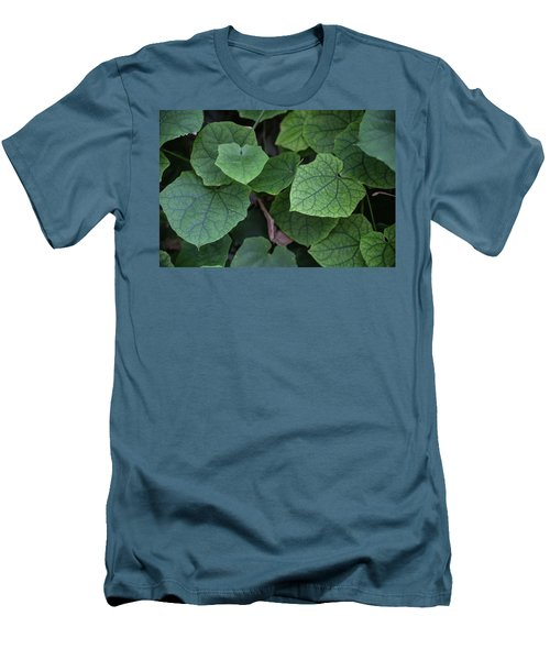 Low Key Green Vines Men's T-Shirt (Slim Fit) by Jingjits Photography