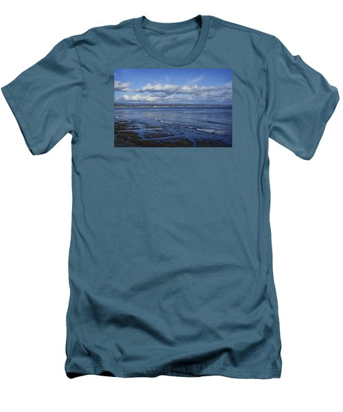 Low Tide At The Hook, Santa Cruz Ca Men's T-Shirt (Athletic Fit)