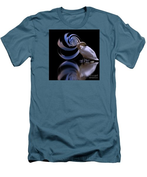 Loxodrome And Swan Men's T-Shirt (Athletic Fit)