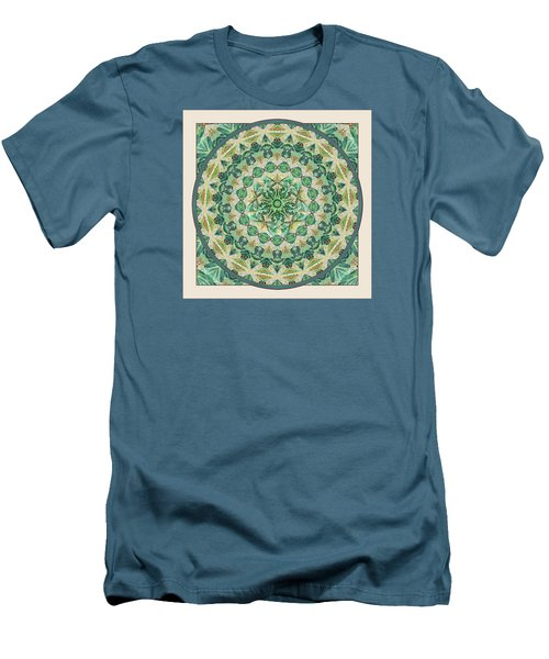 Men's T-Shirt (Slim Fit) featuring the digital art Luna Meditation Mandala by Deborah Smith