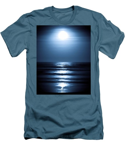 Lunar Dreams Men's T-Shirt (Slim Fit) by DigiArt Diaries by Vicky B Fuller