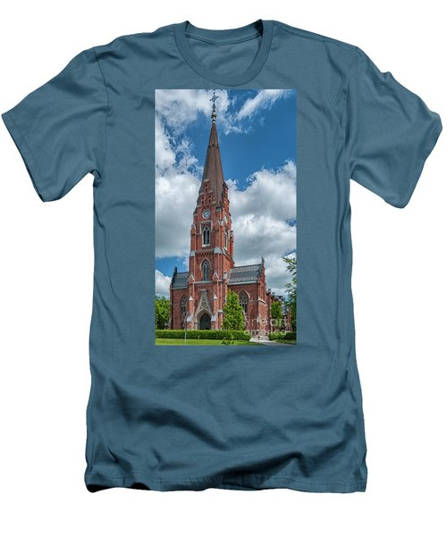 Men's T-Shirt (Slim Fit) featuring the photograph Lund All Saints Church by Antony McAulay