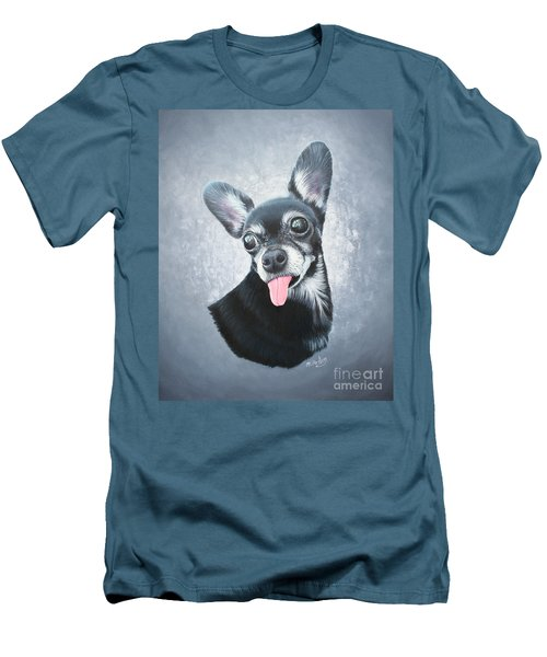 Men's T-Shirt (Slim Fit) featuring the painting Lupe by Mike Ivey