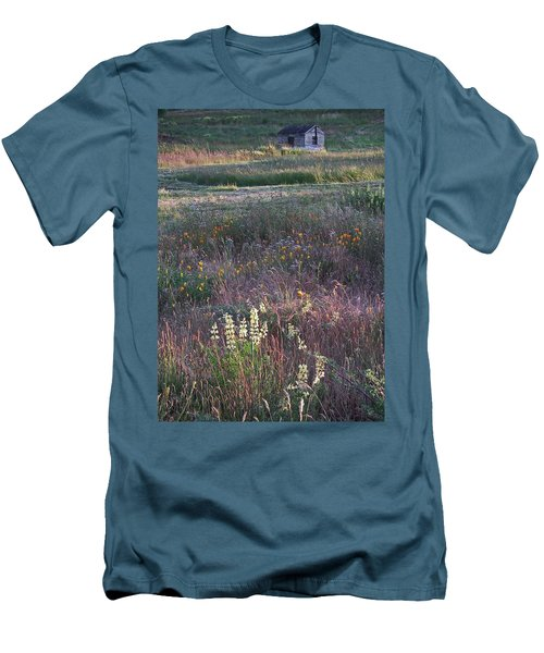 Men's T-Shirt (Slim Fit) featuring the photograph Lupine by Laurie Stewart