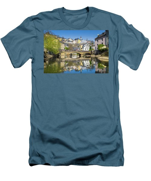 Luxembourg City Men's T-Shirt (Slim Fit) by JR Photography