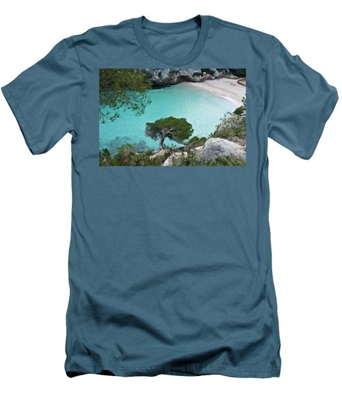 Macarelleta Turquoise Jewell By Pedro Cardona Men's T-Shirt (Athletic Fit)