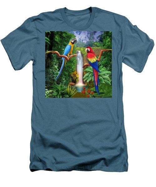 Macaw Tropical Parrots Men's T-Shirt (Athletic Fit)