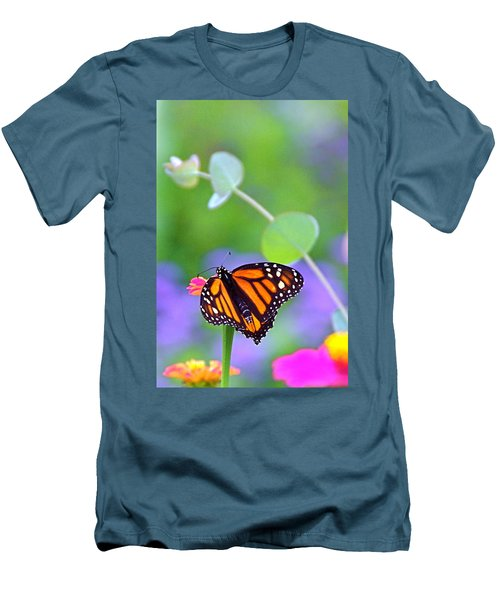 Men's T-Shirt (Slim Fit) featuring the photograph Magical Monarch by Byron Varvarigos