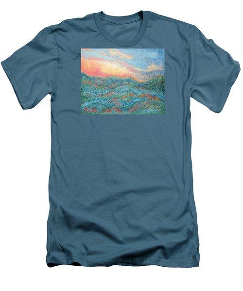 Magnificent Sunset Men's T-Shirt (Slim Fit) by Holly Carmichael