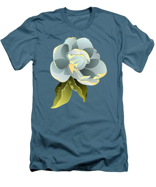 Magnolia Blossom Graphic Men's T-Shirt (Slim Fit) by MM Anderson
