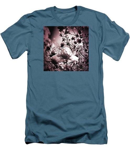 Magnolia Pink Men's T-Shirt (Slim Fit) by Karen Lewis